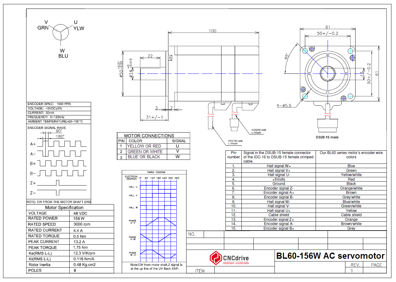 Cncdrive Motion Controls Servo Drive Motor Wiring Diagram Blsv 05020 Ac Users Manual Eni Xxxx Magnetic Kit Encoder